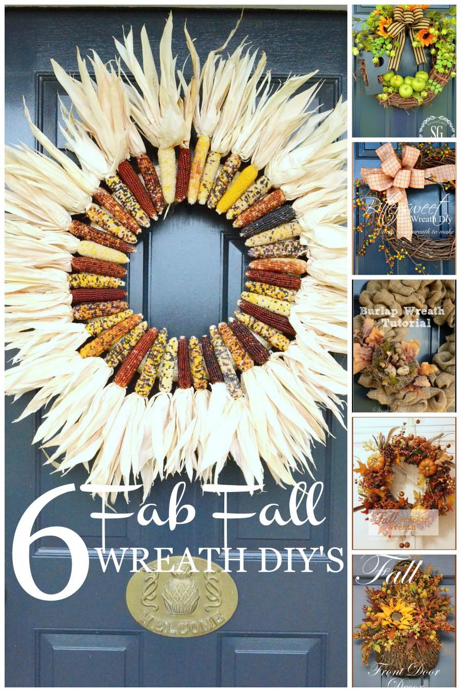 6 FAB FALL WREATHS- lots of fall ideas and inspiration.-stonegableblog.com