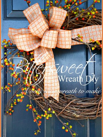 BITTERSWEET WREATH DIY- A very easy-to-make fall wreath-stonegableblog.com