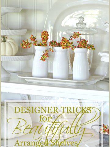 DESIGNER TRICKS FOR BEAUTIFULLY ARRANGED SHELVES