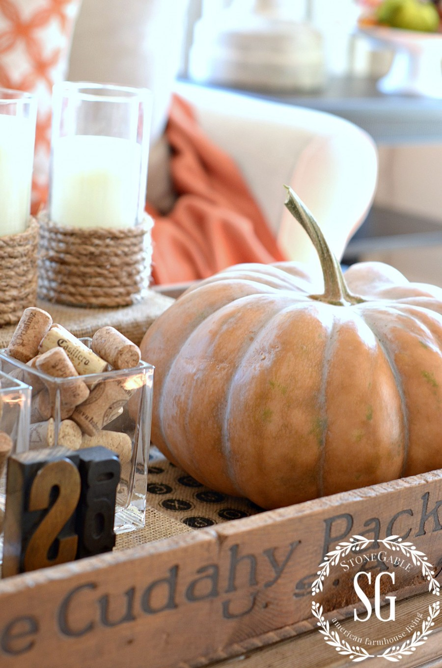 FALL HOME TOUR-bringing the natural element of fall inside. Lots of easy inspiration stonegableblog.com