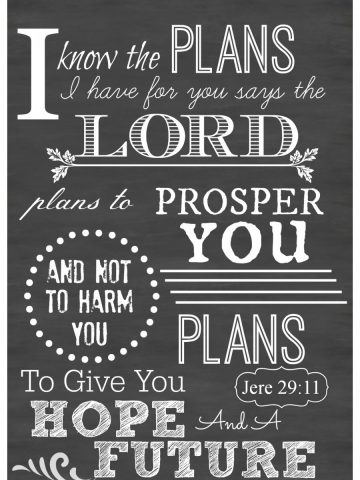 """""""I KNOW THE PLANS I HAVE FOR YOU"""" CHALKBOARD PRINTABLES"""