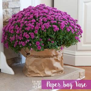 DIY paper bag vase kellyelko.com