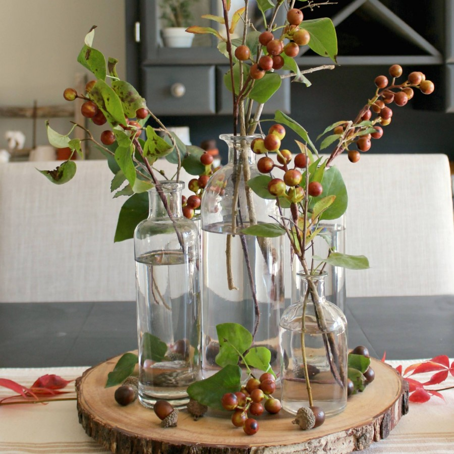 Decorating for fall with tree stems kellyelko.com