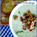 CREAMY CHEDDAR BROCCOLI SLOW COOKER SOUP