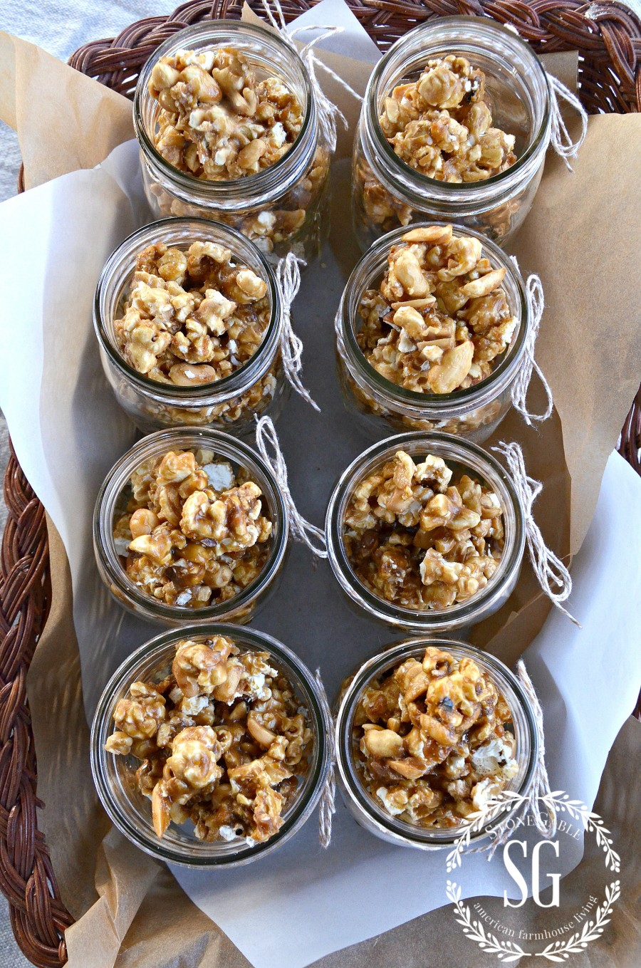 Homemade Cracker Jacks are even more fun to eat out of a Mason jar! A ...