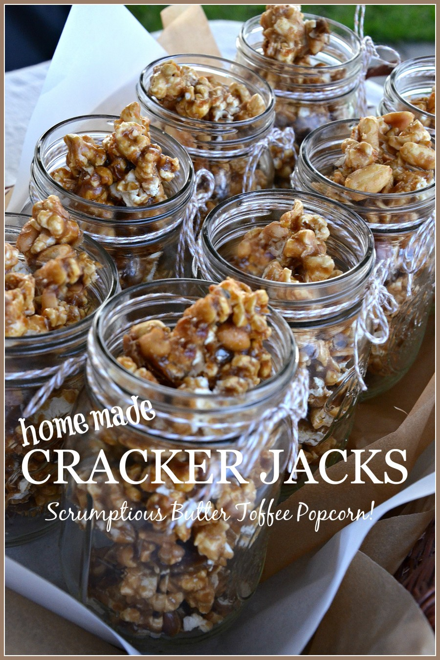HOMEMADE CRACKER JACKS WITH PEANUTS- So much better than you remember!