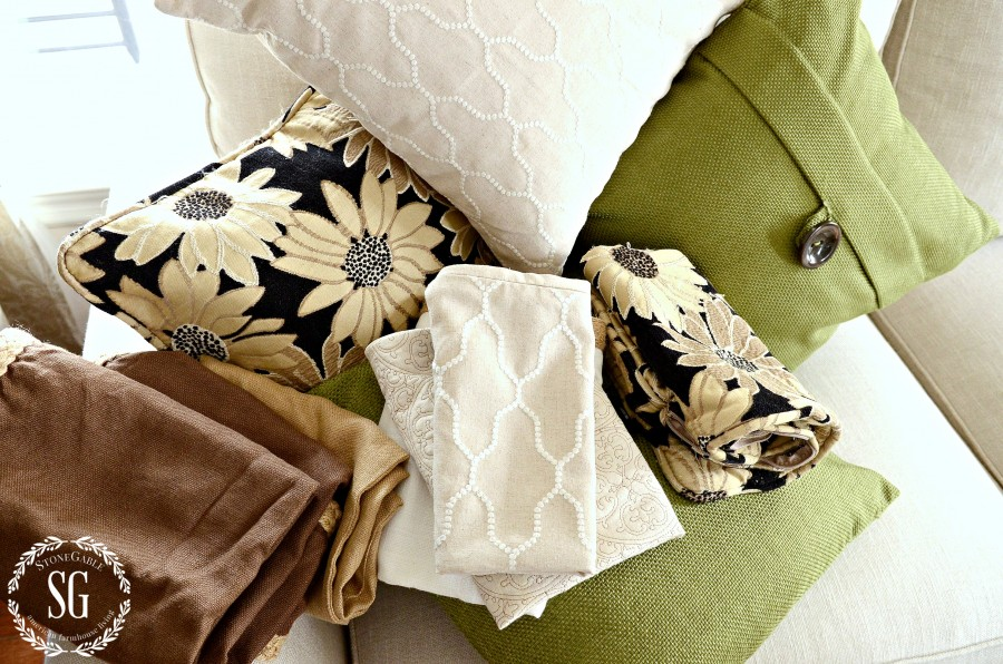 HOW TO STORE PILLOWS -An easy, no stress, no mess way to store pillows and be able to find them when you need them.