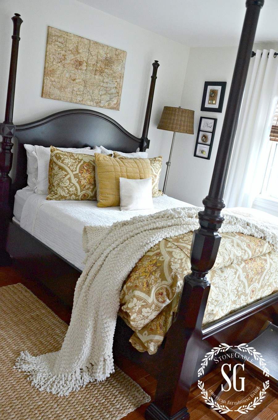 LAYERING BEDDING LIKE A DESIGNER- Easy to do tips for making a fabulously stylish bed-stonegableblog.com