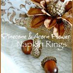 PINECONE AND ACORN FLOWER NAPIN RINGS