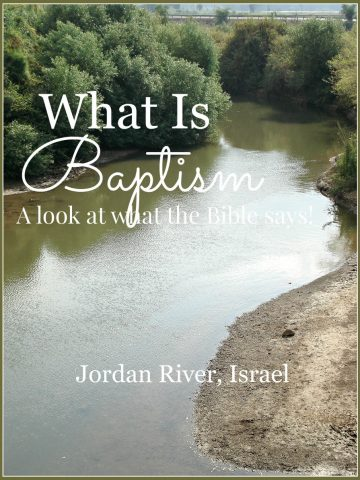 Sunday Scripture-What Is Baptism