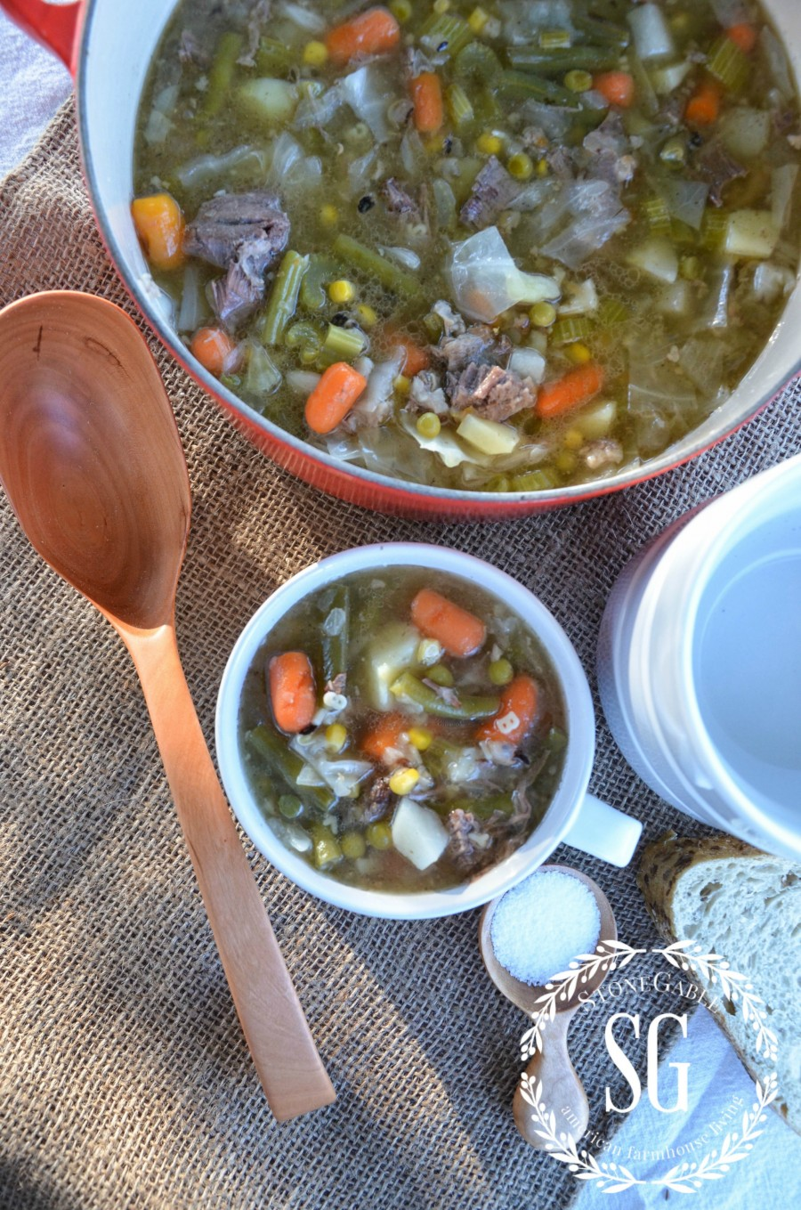 OLD WORLD VEGETABLE SOUP- A soup that eats like a meal. This is the best vegetable soup you will ever make. It's that good!
