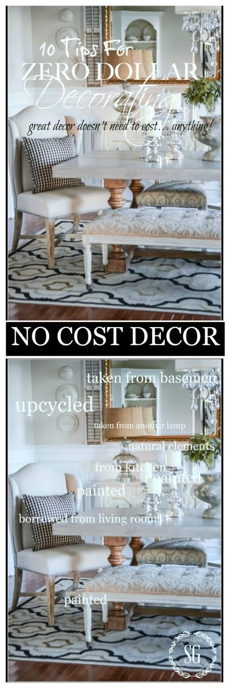 ZERO DOLLAR DECORATING- Creating amazing decor without spending any money