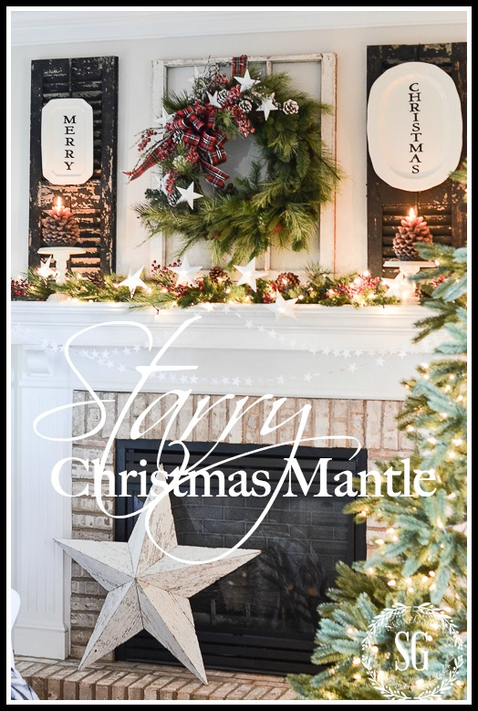 Christmas Mantle.Starry Christmas Mantle