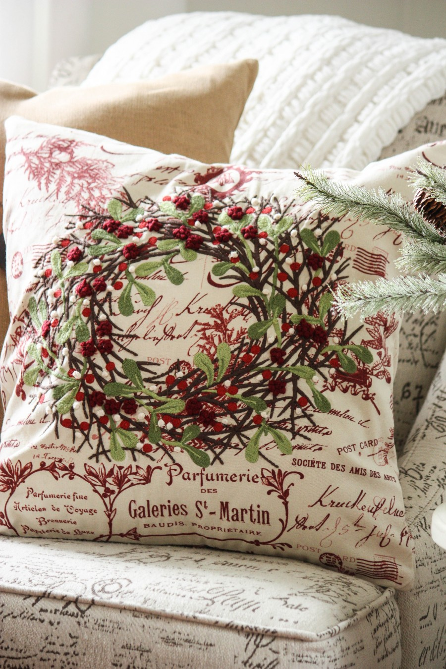 Christmas Pillow Love