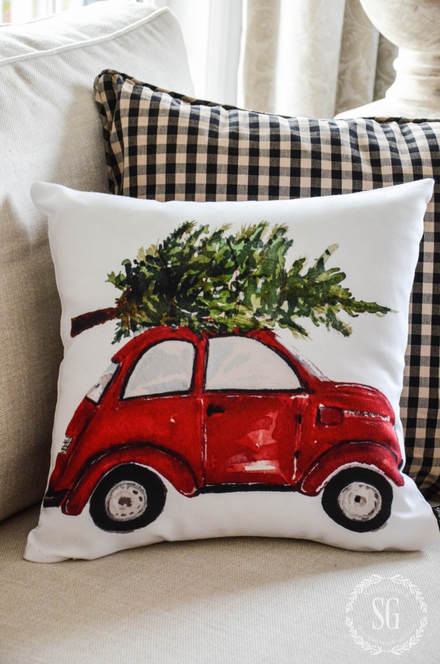 CHRISTMAS PILLOW LOVE. Decorate your home with festive Christmas Pillows. Here's a few and some tips too!