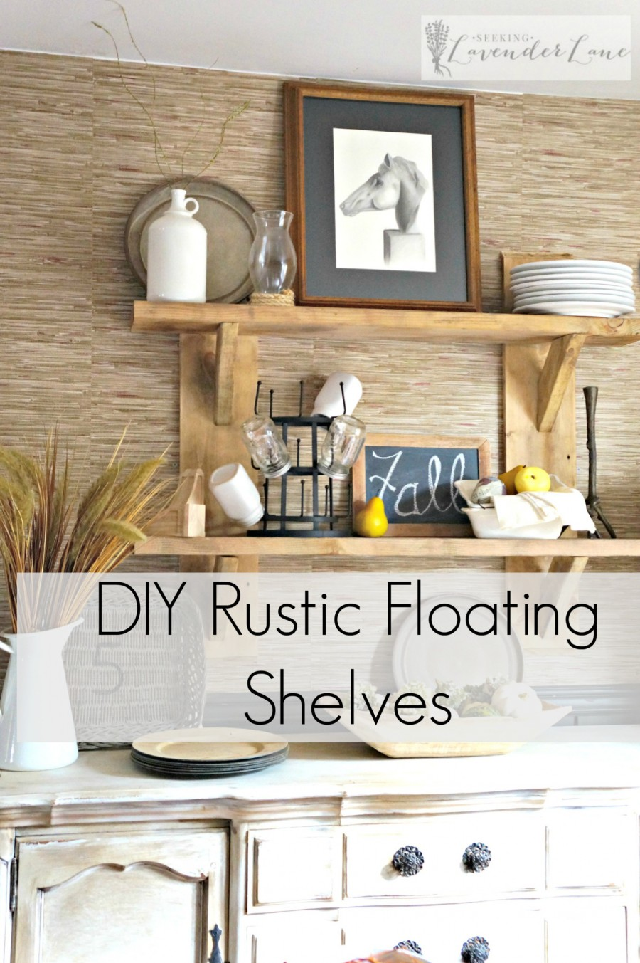 DIY Rustic Floating Shelf