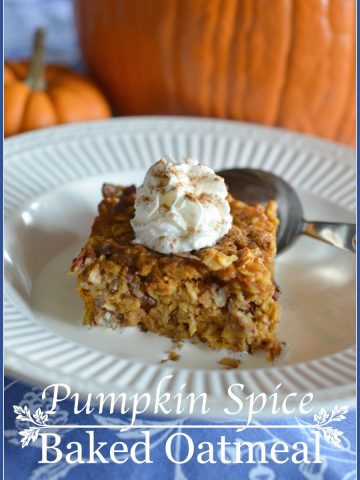 PUMPKIN SPICE BAKED OATMEAL-Breakfast that tastes too good to be good for you... but it is!