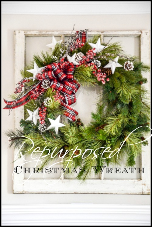 REPURPOSING A CHRISTMAS WREATH- Easy way to make an old wreath new and beautiful again!