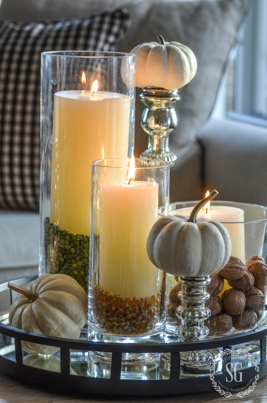 THANKSGIVING 10 MINUTE DECOR- Creating Thanksgiving ambiance with creative and beautiful use of candles