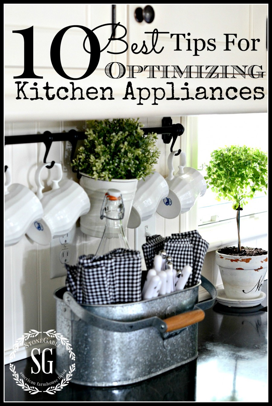 10 TIPS FOR OPTIMIZING APPLIANCES-Here are some great tips to to keep our appliances working at their best!