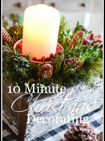 10 MINUTE CHRISTMAS DECORATING - Here's a very easy and so pretty Christmas decoration