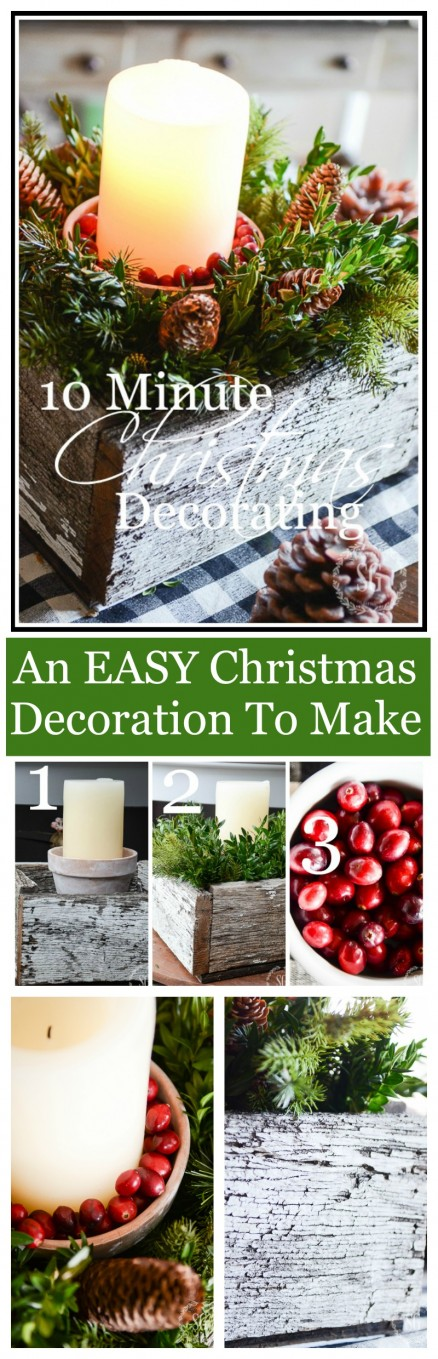10 MINUTE CHRISTMAS DECORATION-Easy to make and so festive!
