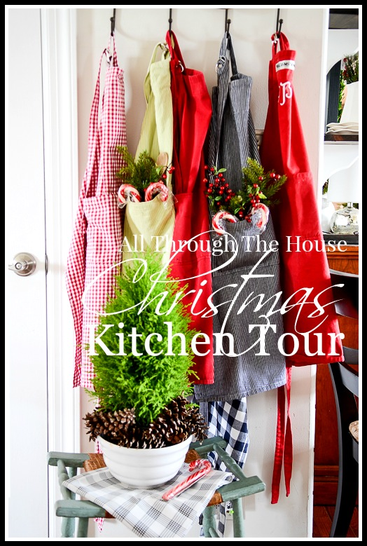 ALL THROUGH THE HOUSE CHRISTMAS KITCHEN TOUR