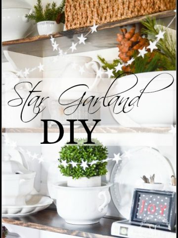 STAR GARLAND DIY- So simple to make and fun to use!