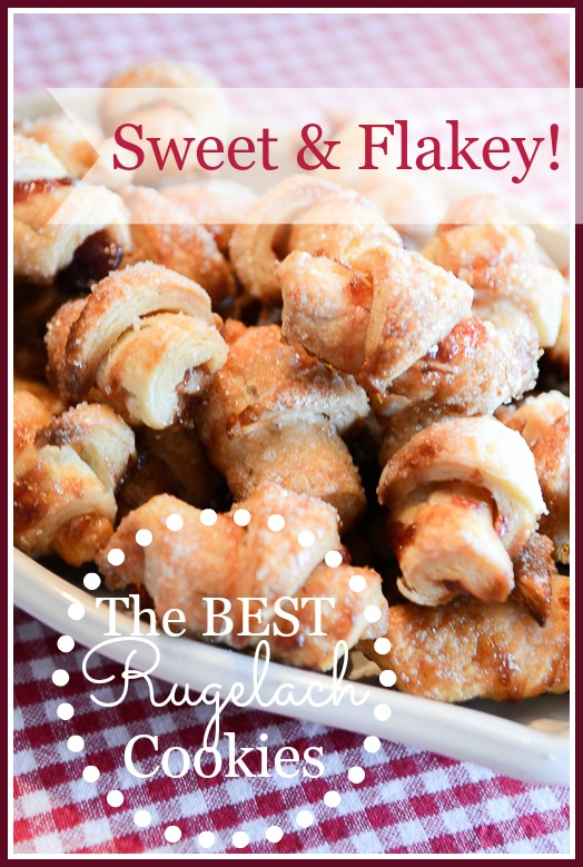THE BEST RUGELACH COOKIE- Sweet, flakey and buttery. So easy to make!