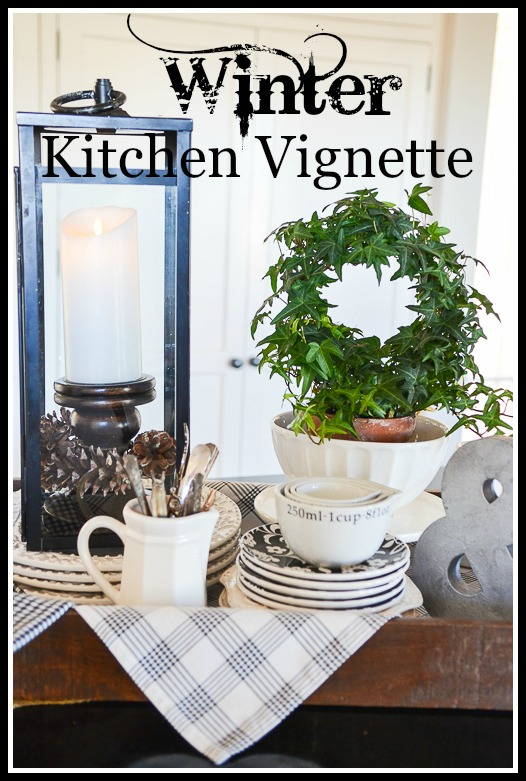6 Tips For Creating A Winter Vignette On Your Kitchen