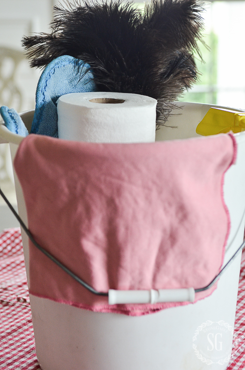CREATE A HANDY CLEANING CARRYALL- Clean smarter, not harder!