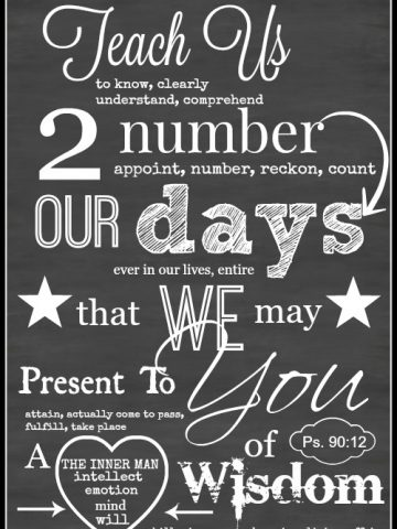 TEACH US TO PRAY FREE CHALKBOARD PRINTABLE
