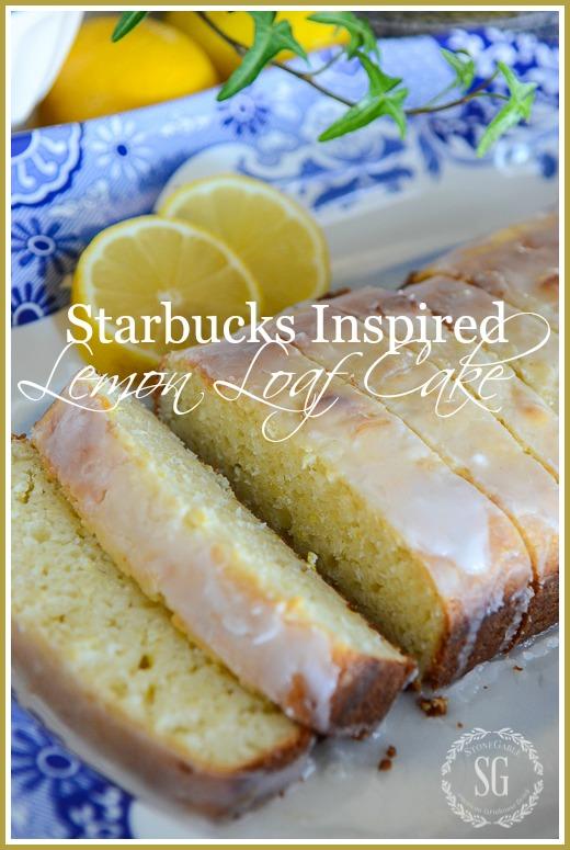 STARBUCKS INSPIRED LEMON LOAF CAKE