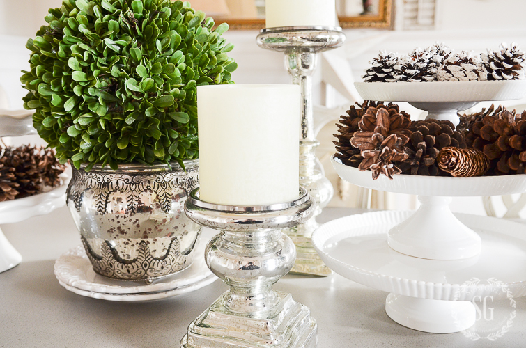 WINTER WHITE DINING ROOM CENTERPIECE-Celebrating the beauty of winter