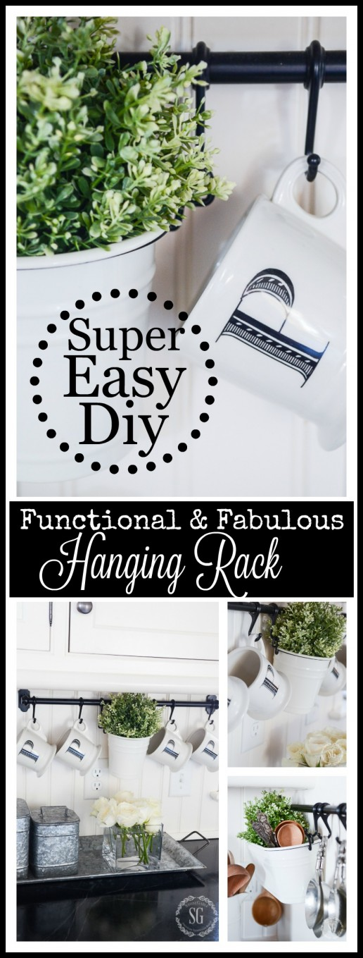 FUNCTIONAL AND FABULOUS KITCHEN RACK-So inexpensive and so many uses.