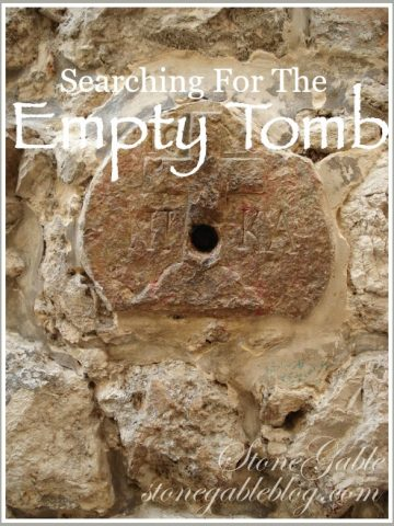 SEARCHING FOR THE EMPTY TOMB. My Easter story from Jerusalem