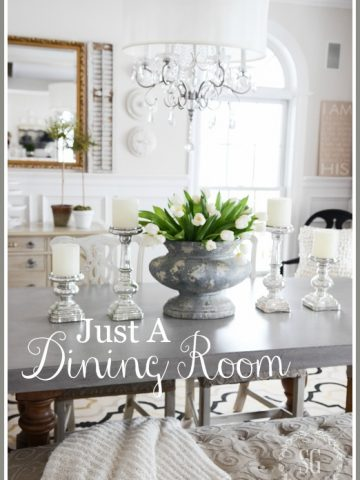 SIMPLE DINING ROOM-Simple can be the most beautiful! Here's how!