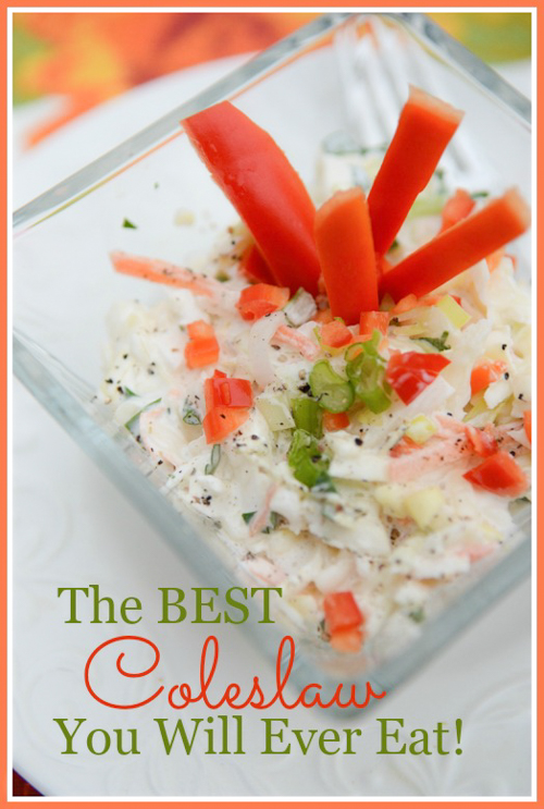 THE BEST COLESLAW YOU WILL EVER EAT!