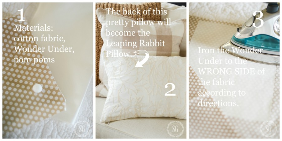 LEAPING RABBIT PILLOW-instructions 1-3-stonegableblog.com