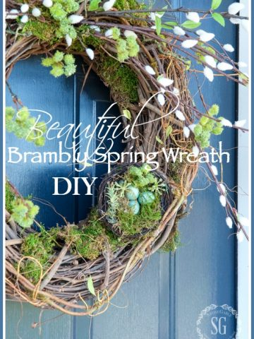 BEAUTIFUL BRAMBLY SPRING WREATH DIY
