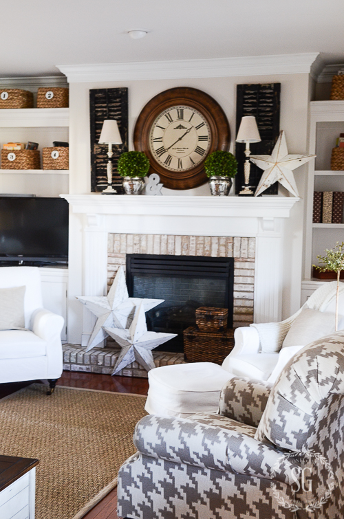 WINTER IN THE FAMILY ROOM-houndtooth-chair-stonegableblog