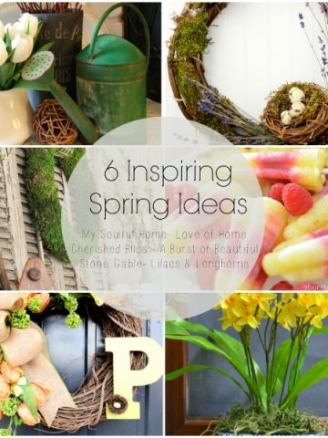 6 INSPIRING SPIRNG IDEAS- let's sweep the winter blahs away and get making pretty spring things for our home!