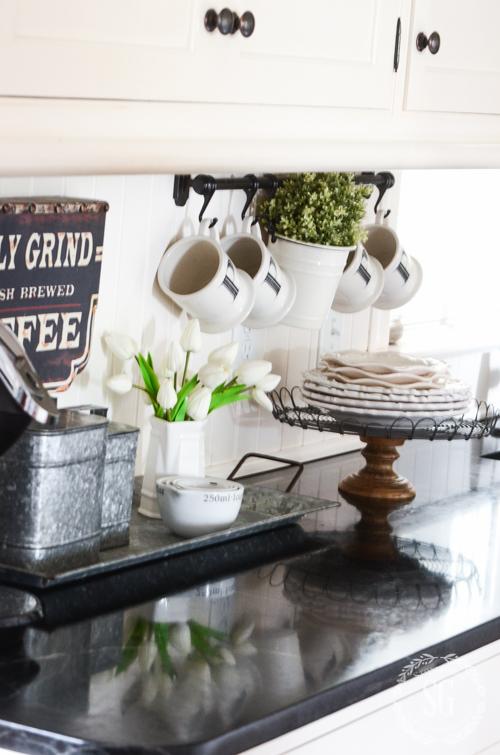 Spring Farmhouse Kitchen Details Stonegable