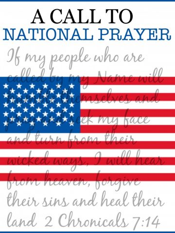 A CALL TO NATIONAL PRAYER- Praying for our country!