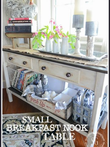 SMALL BREAKFAST NOOK TABLE- How to use what you have and turn it into something you want!
