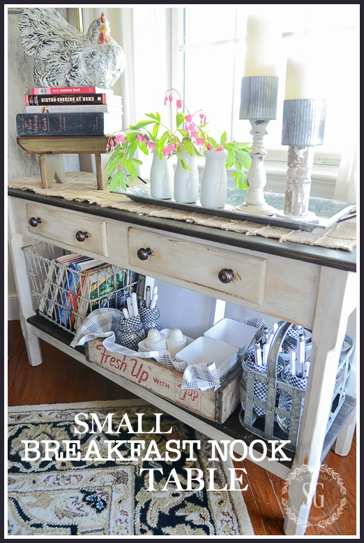 Small Breakfast Nook Table How To Use What You Have And Turn It Into Something