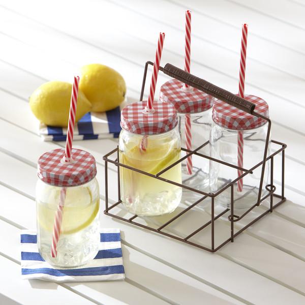 Gingham-Drinking-Jar-Set-BL13556