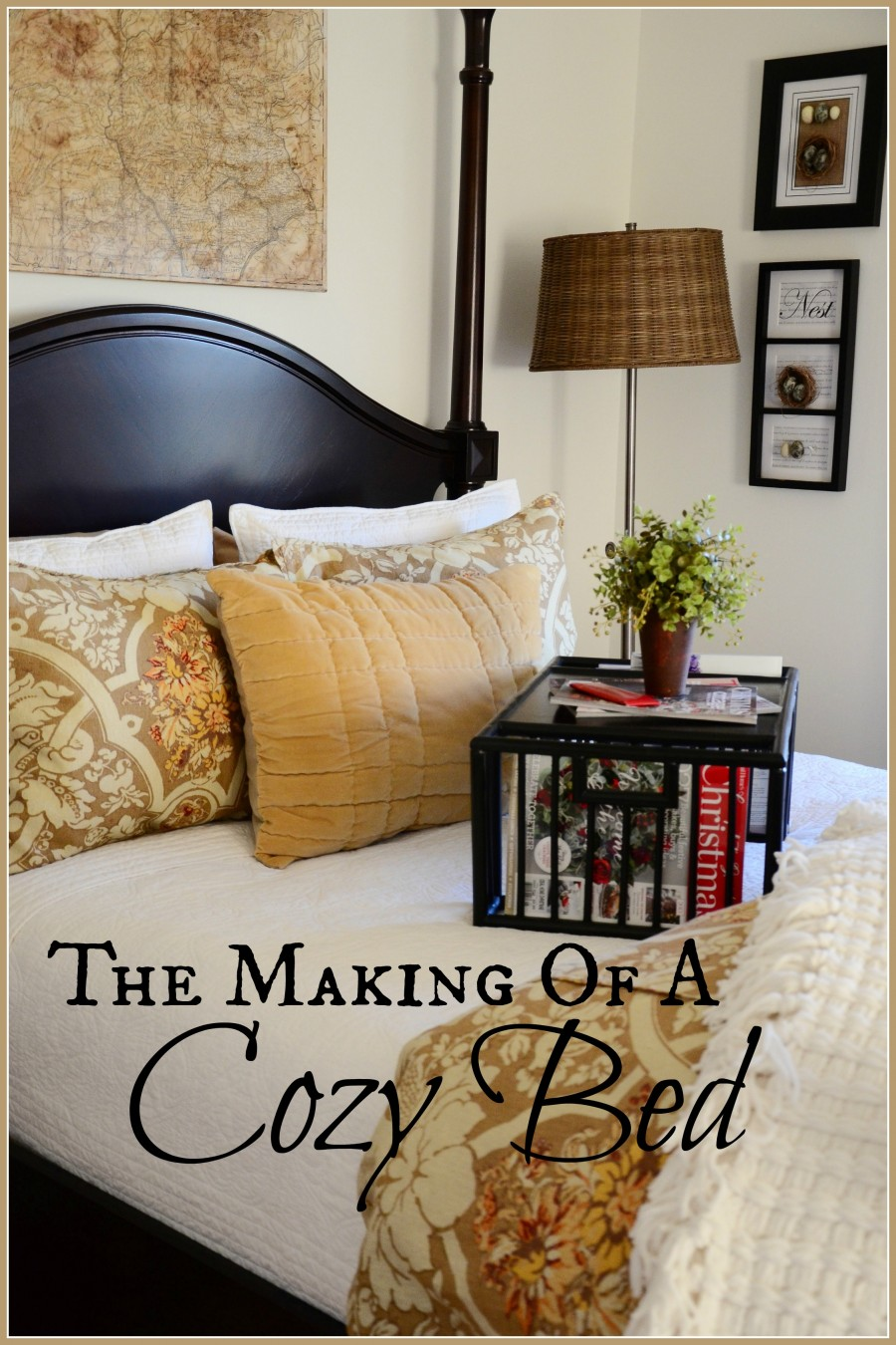 How To Make A Cozy Bed- Title Page-stonegableblog