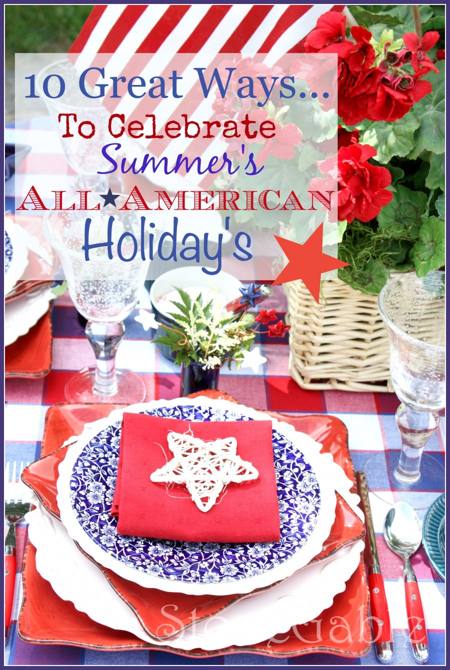 10 AMAZING WAYS TO CELEBRATE PATRIOTIC HOLIDAYS WITH PIZZAZ AND SPARKLE! These are fabulous and fun