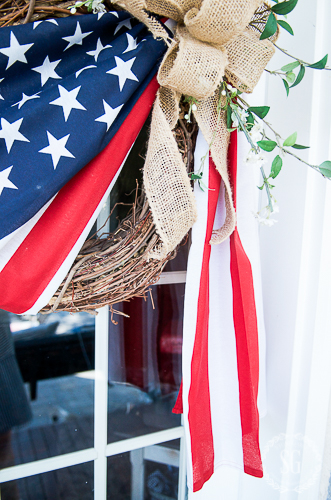 OLD GLORY WREATH DIY. You can make this easy and patriotic wreath this summer. A nice tribute to our country and those who love it. I'll show you how!